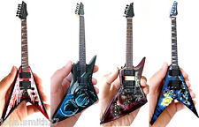 Miniature Guitar Dave Mustaine Megadeth SetOf4 Angle of Death, Zero, AoD II, RIP
