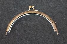 Taschenbügel Taschenverschluss - halbrund - 12,5 x 7,5 cm - bronzefarben
