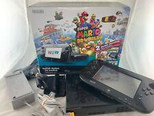 Damaged Pad- Nintendo Wii U Console Mario Kart 8 Deluxe Set w Mario 3D World box