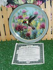 "Bradford Exchange ""Ruby Treasures"" Collectible Plate #7446A W/ Coa"