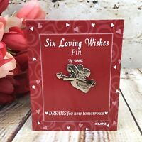 Loving Wishes Valentine Day Gift Angel Pin Brooch Dreams for New Tomorrows Ganz