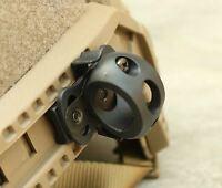 AIRSOFT AF OPS BLACK SWAT HELMET 20mm TORCH MOUNT UK Crye Airframe RAIL