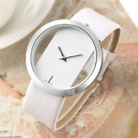 Fashion Ladies Watches Women Quartz Wristwatch Black Red Leather Strap Watch