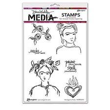 Dina Wakley Homage to Frida Media Cling Rubber Stamp MDR55686 2017