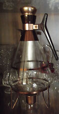 Retro '50's Inland Glass Coffee Carafe' w/warming stand & Cork Lid - 8/10 cup