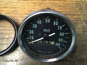 Vintage Kawasaki Motorcycle Speedometer