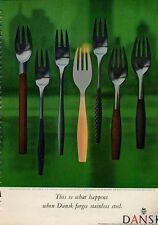1960 Dansk PRINT AD Stainless Steel  Variations of the TOKE Pattern