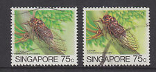 Singapore Sc 460, 460a used 1985-1986 75c Original & Redrawn BEETLE, VF