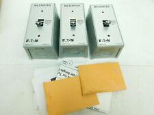 Lot Of 3 Eaton Manual Motor Starter Switch Nema 1 Enclosure Mst01sn 1 Pole Vn