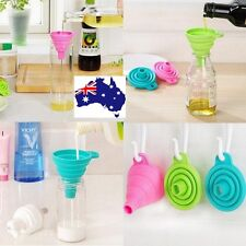 Silicone Funnel utility collapsible kitchen fold heat oil water liquid Wine Pour