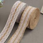 Jute Burlap Lace Ribbon Linen Roll Handmade Gift Christmas Decoration 100*5cm