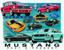 Mustang Chronology #1272 Vintage reproduction, Garage, Man Cave