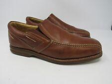 Florsheim Mens Brown Leather Slip On Shoes Sheepskin Lining Size 10 1/2 10.5 GL