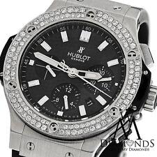 Diamond Hublot 301.SM.1770.GR Big Bang 44mm Watch Carbon Dial On Rubber Strap