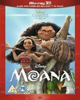 Moana [Blu-ray 3D 2016 Region Free Disney animated Movie ] Very Good condition