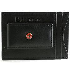 AlpineSwiss Mens Leather Money Clip Magnet Front Pocket Wallet Slim ID Card Case