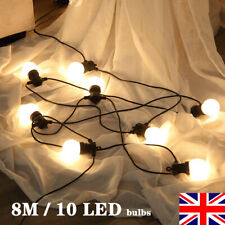 LED Milky Warm White G50 Globe String Lights Outdoor Patio Garden Hanging Light