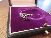 Hübscher 925 Silber Ring Saphir 60er 70er 80er Designer Blau Filigran Modern