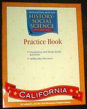 HOUGHTON MIFFLIN SOCIAL SCIENCE STUDIES 2nd GRADE 2 HISTORY WORKBOOK HOMESCHOOL