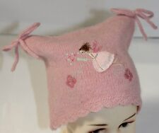 Monsoon Baby Girls Pink Lambswool Magic Fairy Square Hat Age 0-12 Months