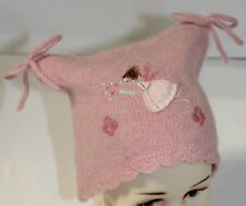Monsoon Baby Girls Pink Lambswool Magic Fairy Square Hat Age 0-12 months New