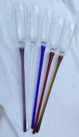"""Set Of 5 Long Stem Hand Blown Champagne Flutes/Toasting Glasses 17"""""""