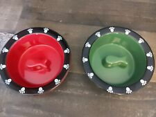 Doctors Foster & Smith Ceramic Stoneware Set of 2 Cat Feeding Dishes Bowls