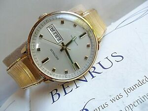 Clean Vintage Men's 1970's Benrus Day Date Automatic Mechanical GP Watch Runs