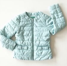 United Colors of Benetton Quilted Puffer Jacket Coat Girls Size 8-9 Ice Blue