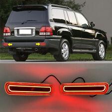 LED Rear Bumper Lamp Reflective Light 2pcs Fits For LEXUS LX470 1998-2007