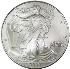 2000 BU Uncirculated Silver American Eagle Dollar $1 SAE Troy OZ .999 US Coin