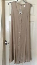 Ladies Long Stone Dress Size 12, But More 12/14 As Measures Pit To Pit 19 Inches