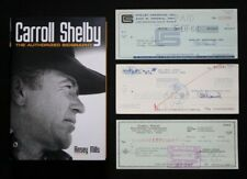 Carroll Shelby Racing book - special 1st Edition with 1960s Shelby company check