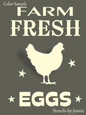 Joanie Stencil Farm Fresh Eggs Chicken Hen Stars Ranch Farmhouse DIY Craft Signs