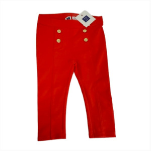 Toddler Janie & Jack red  pants nautical Summer Bottoms 12-18 months