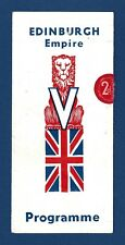 """Rodgers & Hart """"BY JUPITER"""" Bobby Howes / Adele Dixon 1944 Edinburgh Program"""