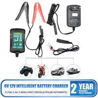 Cargador De Batería Inteligente Lead-acid 12V 6V Para Coche Auto Furgoneta Moto