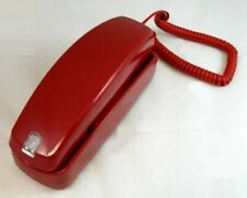 Corded Phone Handset Vintage Business Home Landline Wall Telephone Red Phones