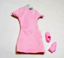 BARBIE DOLL PINK DRESS TAGGED + SNEAKERS