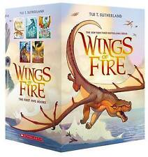Wings of Fire Boxset, Books 1-5 (Wings of Fire) by Tui T Sutherland (Multiple copy pack, 2016)