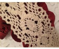THICK CROCHET TRIM  - 35mm wide x 50cm
