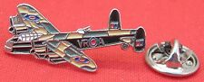 WW11 Lancaster Bomber Aeroplane Aircraft Pilot Lapel Pin Badge Air Force Plane