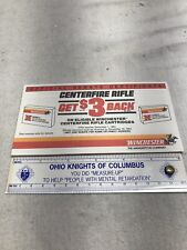 Vintage Winchester Centerfire Rifle Cartridge Coupon Booklet Rebate Tear Away