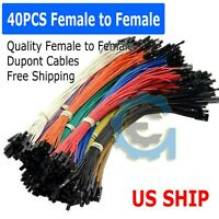 a5 40pcs 20cm Female to Female Dupont Wire Jumper Cable for Arduino Breadboard