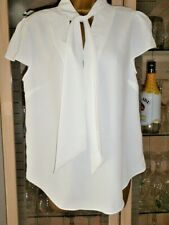 River Island Superfly Tie-Neck Cap Sleeve Summer Blouse UK12 BNWT rrp £24