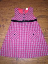 Girls Christmas Winter Holiday Party Plaid Dress Red Green Sleeveless Size 5