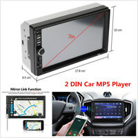 """2DIN 7"""" In-dash Car Stereo Radio Touch Screen FM Bluetooth MP5 Multimedia Player"""