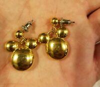 Disney Mickey Minnie Mouse Head Earrings Dangle Jewelry