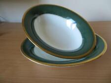 2 x COALPORT ATHLONE - GREEN OPEN VEGETABLE SERVING DISHES V.G.COND 1st QUALITY