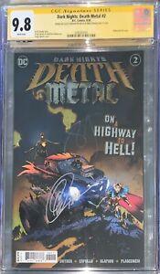 Dark Nights Death Metal #2 (1st Robin King) CGC SS 9.8 Sig Snyder & Capullo